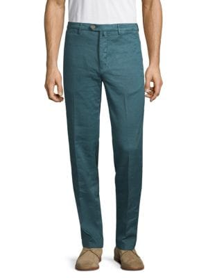 Kiton Pants Stretch Linen Cotton Trousers