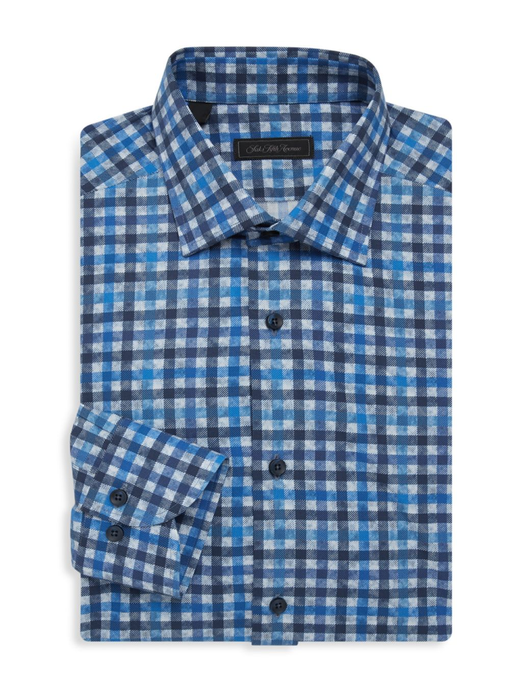 Saks Fifth Avenue COLLECTION Checked Dress Shirt