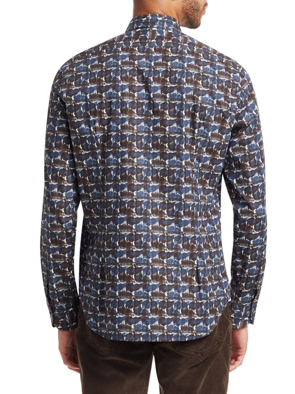 Saks Fifth Avenue COLLECTION Abstract Print Dress Shirt