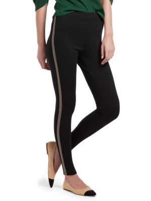 Hue Pants Metallic Tuxedo Ponte Leggings