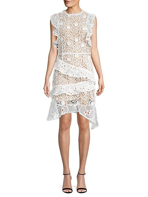 FEW MODA | Ruffle Lace A-Line Dress | Goxip