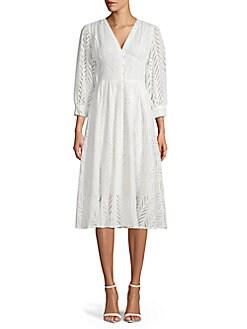 818cb60dab Cotton Cutout Dress WHITE. QUICK VIEW. Product image