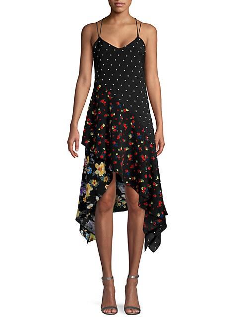 FEW MODA | Floral & Dot Scarf Dress | Goxip