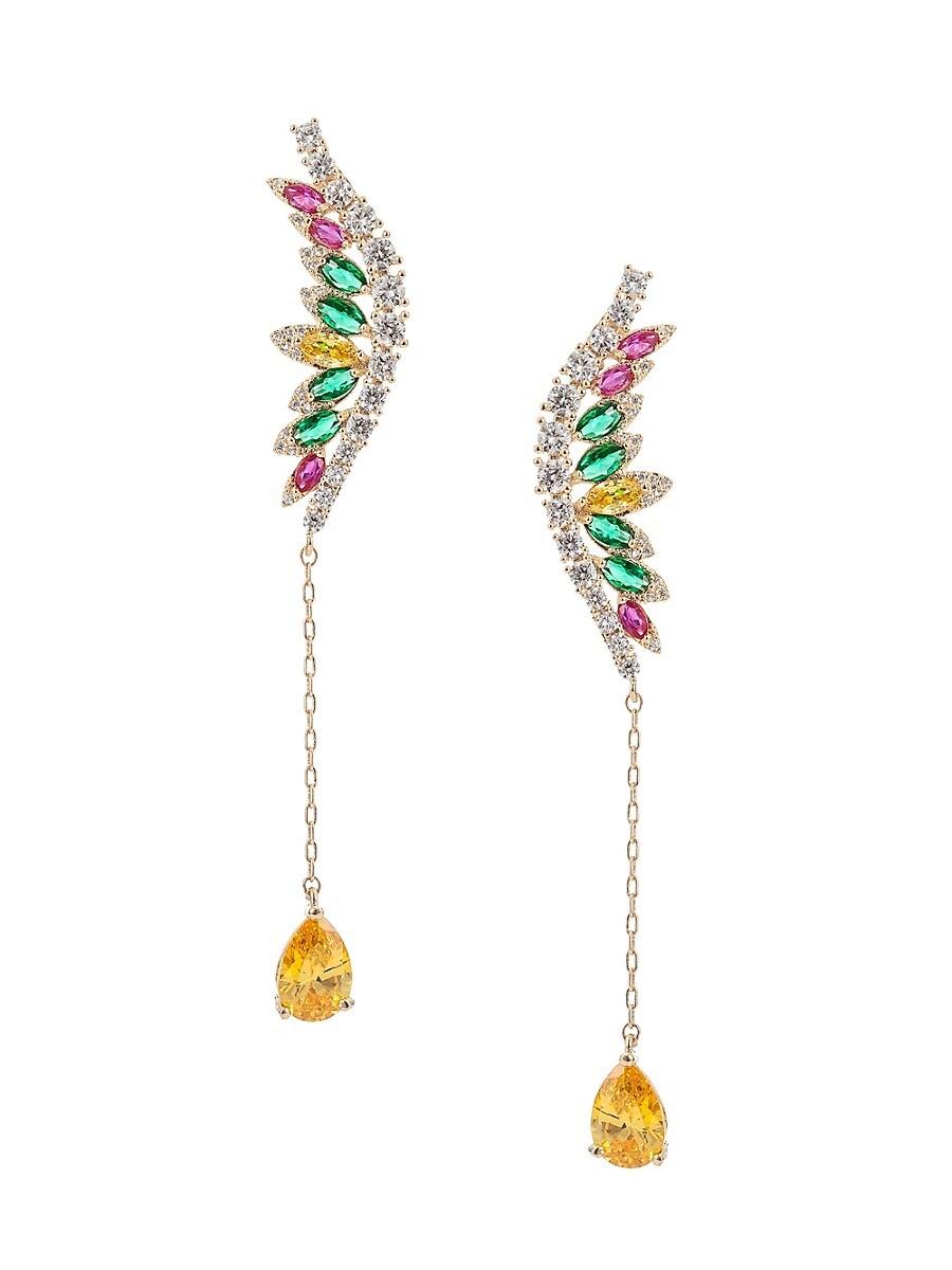 Women's Luxe Multicolored Crystal Drop Earrings