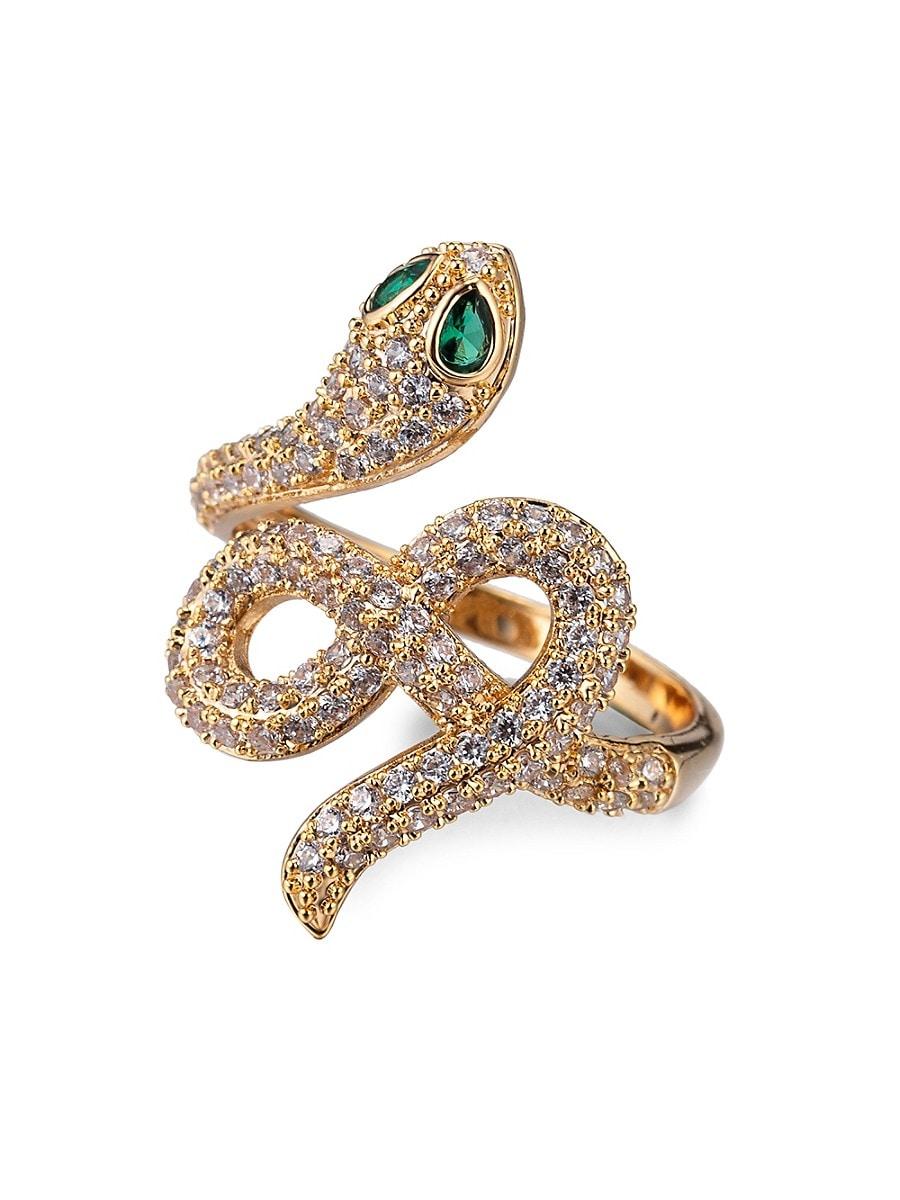 Women's Luxe Crystal Snake Eye Ring