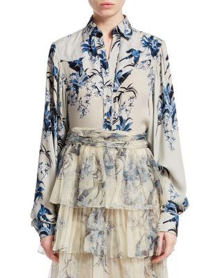 Johanna Ortiz T-shirts Silk Floral Shirt