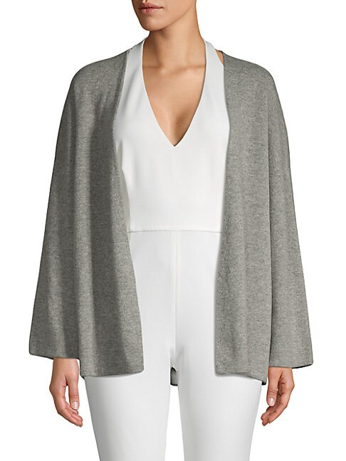 BARBARA LOHMANN | Open-Front Cashmere Cardigan | Goxip