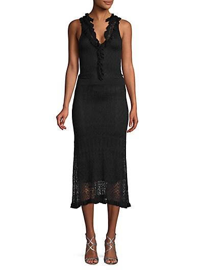 f9552fc2c4 Altuzarra Ruffle-Trimmed Lace Sheath Dress ...