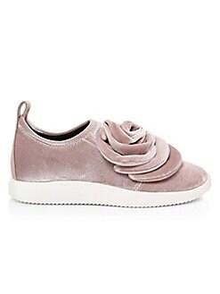 2fbd057304a55 Giuseppe Zanotti. Single Rose Velvet Sneakers