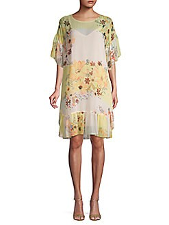 11436c42cc1 See by Chloé. Floral-Print Ruffle Shift Dress