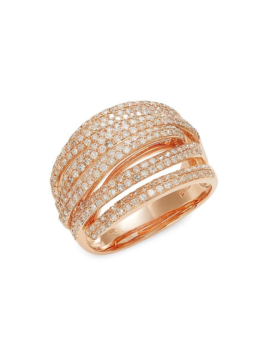 Women's 14K Rose Gold & Diamond Ring