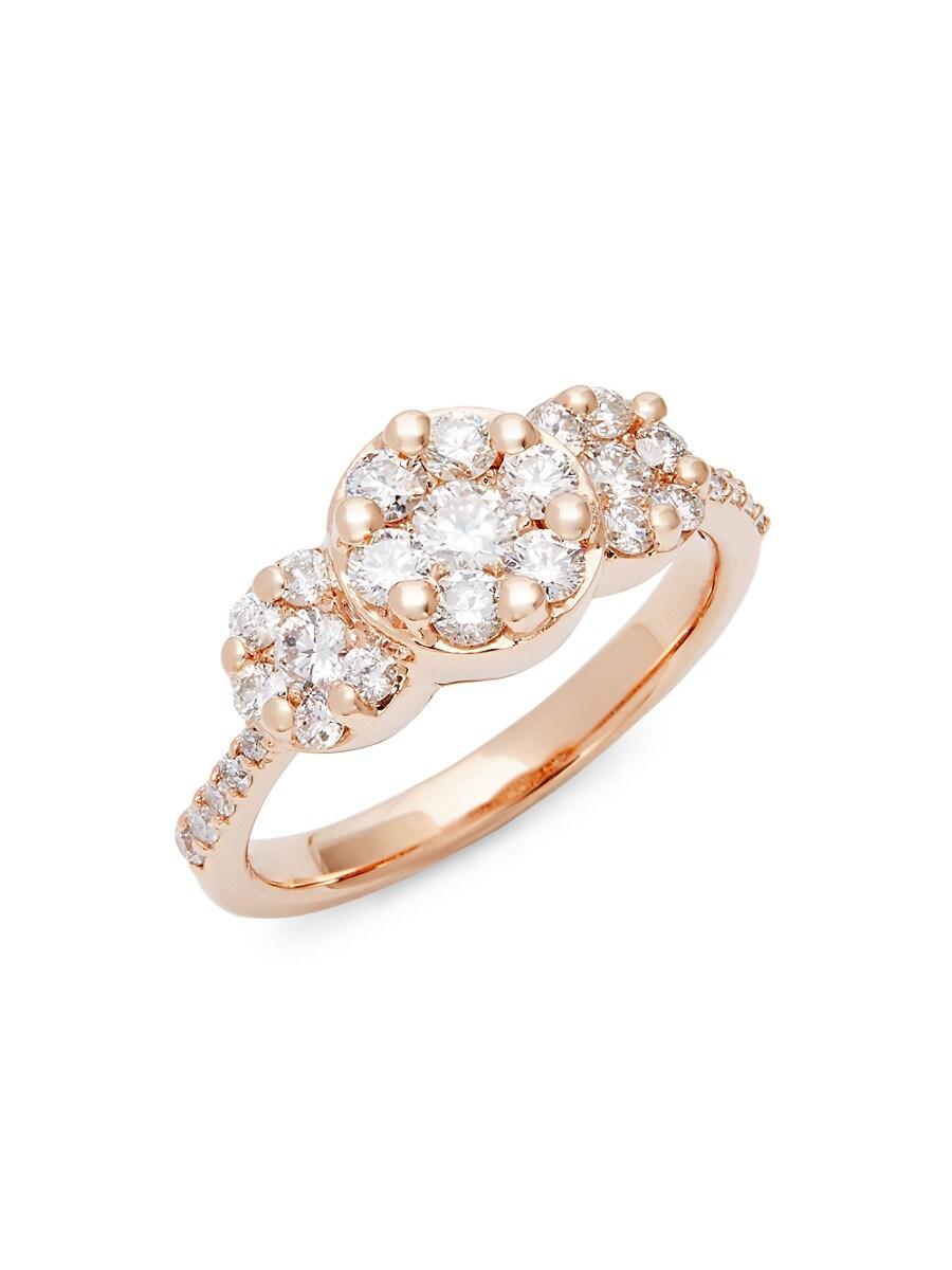 Women's Rose Gold Diamond Bezel Ring