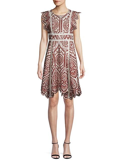 FEW MODA | Scalloped Lace Dress | Goxip