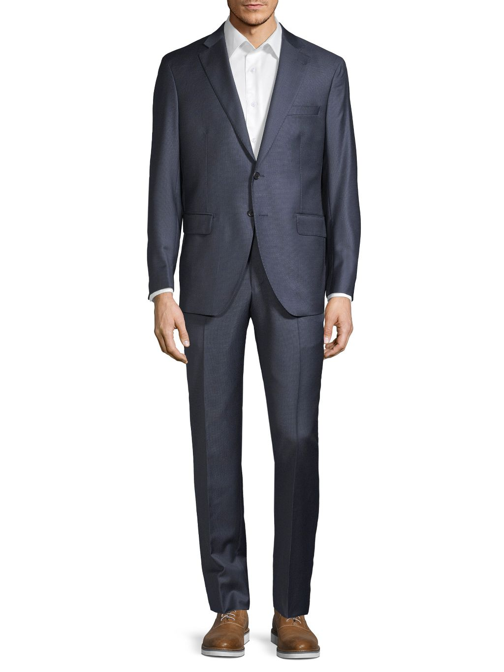 Saks Fifth Avenue Made in Italy Two-Piece Modern-Fit Textured Wool Suit