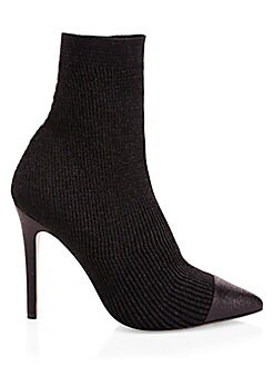 23a4f1170e7 Darbin Ribbed Stiletto Sock Boots BLACK. QUICK VIEW. Product image