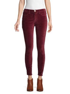 Frame Jeans Velveteen High-Rise Skinny Jeans