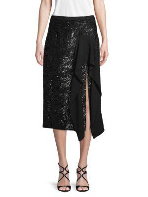 Michael Kors Skirts Embellished Ruffled Skirt