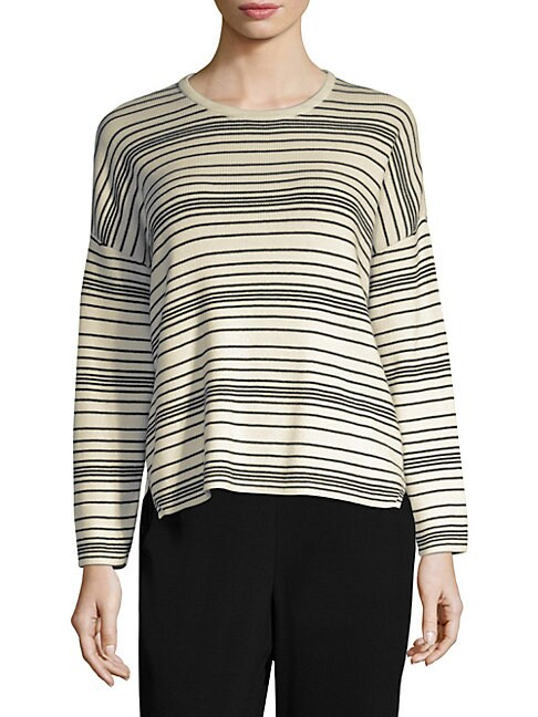 EILEEN FISHER | Striped Sweater | Goxip