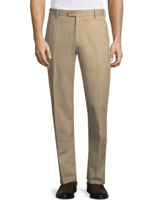 Peter Millar Soft Touch Twill Trousers In Khaki