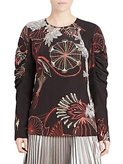 b5cd5c97a23f4 QUICK VIEW. Dries Van Noten. Silk Embellished Puff-Sleeve Blouse