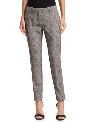 Altuzarra Pants Henri Floral Checked Skinny Pants
