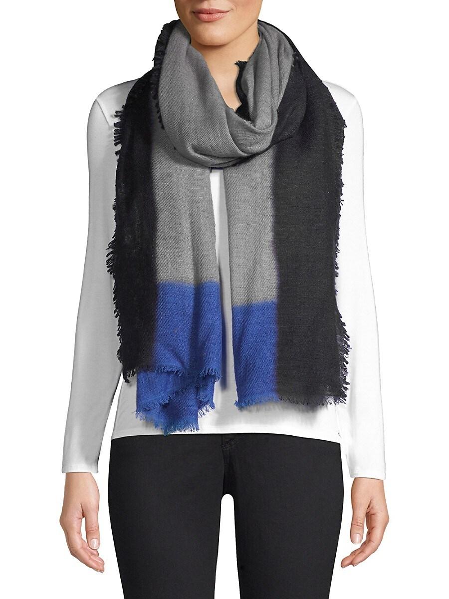 Women's Color Block Cashmere Scarf