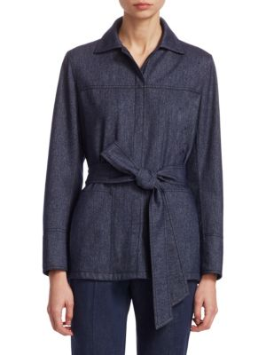 Akris T-shirts Belted Flannel Shirt