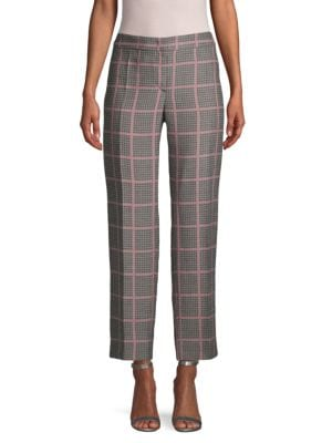 Giorgio Armani Pants Checkered Ankle Pants