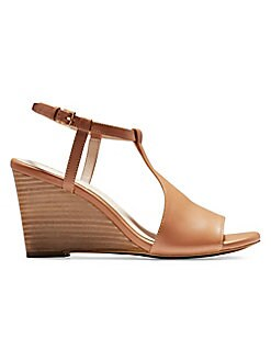 a9f846c5bc QUICK VIEW. Cole Haan. Maddie Leather T-Strap Wedge Sandals