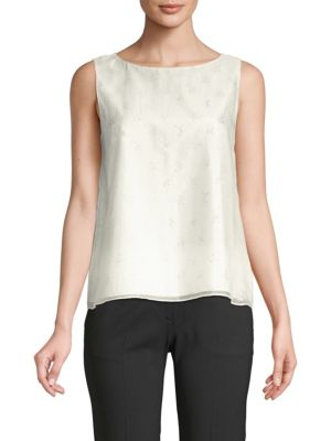 Theory Tops Embellished A-Line Sleeveless Top