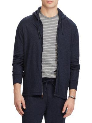 Ralph Lauren Knits Duofold Jacquard Knit-Front Zip Hoodie