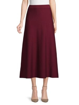 Gabriela Hearst Skirts Solid A-Line Skirt