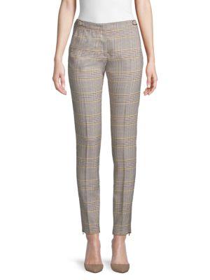 Gabriela Hearst Pants Lisa Stretch Wool Plaid Pants