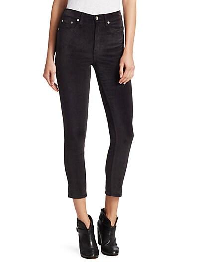 9594019b831 Rag   Bone High-Rise Velvet Skinny Jeans ...