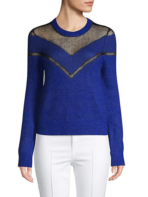 RAG & BONE | Textured Chevron Sweater | Goxip