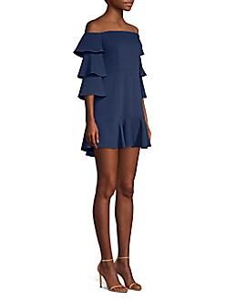 00c738cde302 Product image. QUICK VIEW. BCBGMAXAZRIA. Ruffle-Sleeve Mini Dress