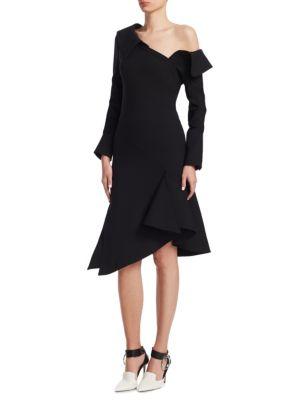 Monse Dresses Off-Shoulder Ruffled Midi Dress