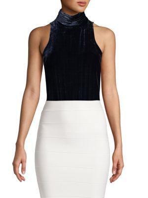 Joie Suits Sleeveless Velvet Bodysuit