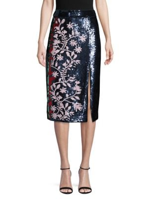 Tanya Taylor Skirts Sequin Embellished Skirt