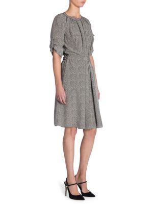 Giorgio Armani Dresses Silk Herringbone Dress