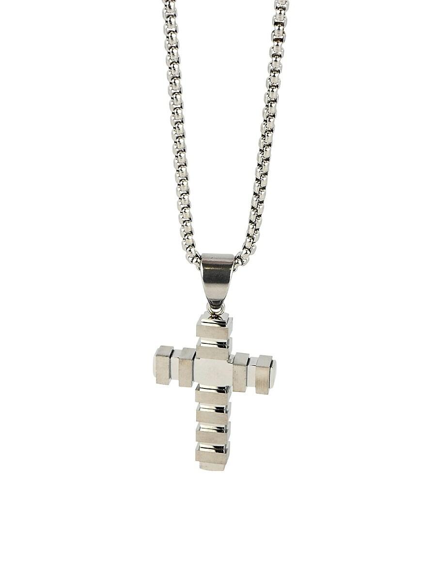 Men's Dell Arte Stainless Steel Cross Pendant Necklace