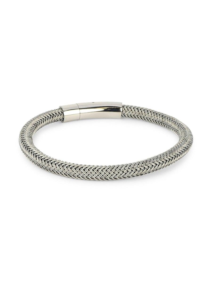 Men's Stainless Steel Woven Bracelet
