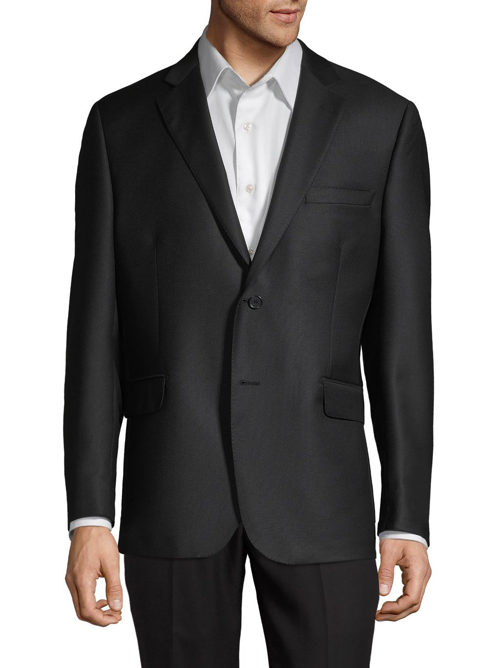 Saks Fifth Avenue Made in Italy Textured Wool Blazer