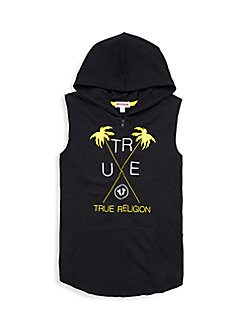 42d7121eb QUICK VIEW. True Religion. Little Boy s   Boy s Graphic Sleeveless Hoodie
