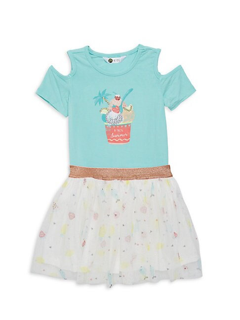 Little Girls 2Piece IceCream Motif Tee  Skirt Dress