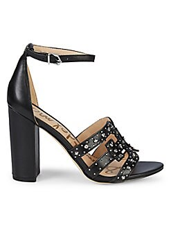 13717b3ae018 Pacific Northwest Yasha Leather Heeled Sandals BLACK. QUICK VIEW. Product  image. QUICK VIEW. Sam Edelman