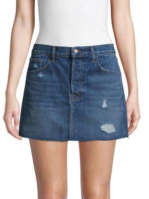 J Brand Skirts Distressed Denim Mini Skirt