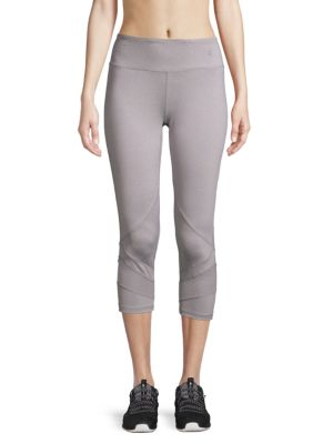 Reebok Ultra Reach Active Capri Leggings In Grey Heather