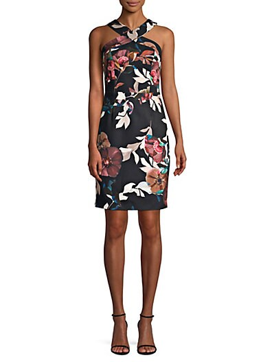 502a93b7c6a Trina Turk Ace Floral-Print Sheath Dress ...