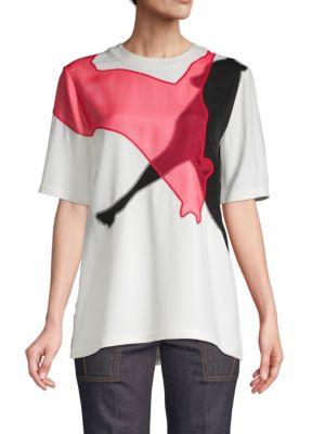 Derek Lam Shorts Embroidered Short-Sleeve Top
